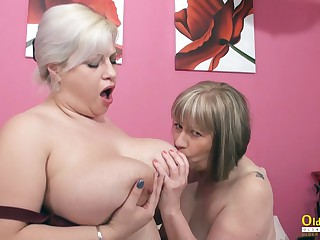 OldNannY BUsty British Full-grown Lesbians Toying
