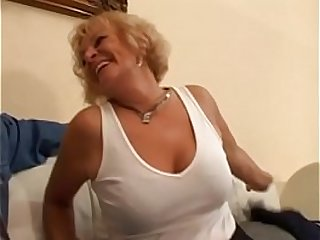 Horny mature Katalin moans as her cunt gets banged hard young cock
