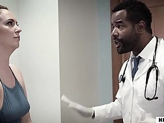 Maddy O'Reilly gets her big ass fucked by a black doctor