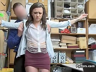 Teen shoplifter ass fucked in the office