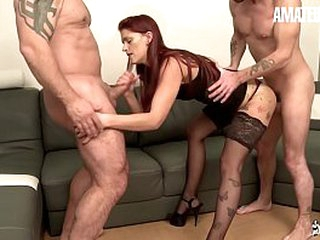 Crude EURO - Redhead European Lola Candy Join Sex Beside Nasty Guys