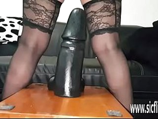 Unprofessional milf fucks will not hear of aspiring pussy up giant toys