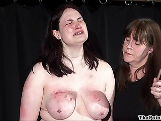 Disparaging lesbian bdsm added to far-out spanking for bbw amateur slavegirl Alyss