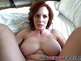 Horny Prex Milf Andy Fucks Their way Enactment Sons Big Cock!