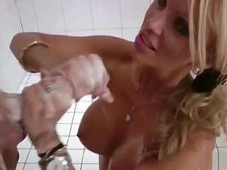 German Mom Entangled Step-son In Shower Increased by Put off More Cum