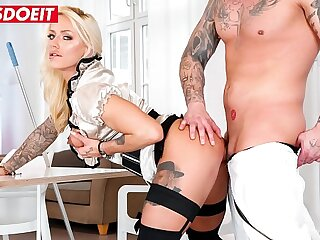 LETSDOEIT - Office Bussiness Lady Fit XXX Sandy Crave For Janitor's Dick