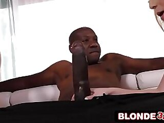Blonde Teens Double-Team Giant Black Dick
