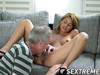 Jizz eating babe old vs young penetrated